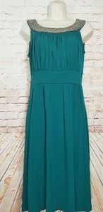 Hanni | Midi Dress W/Beaded Neckline NWOT
